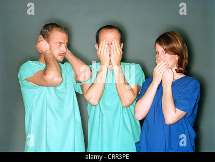 Doctors see the gesture nothing, hear and say - Stock Photo