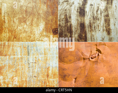 rusty metallic surfaces great as a background - Stock Photo