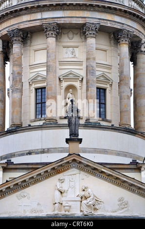 Berlin, Germany. Franzosischer Dom / French Cathedral (1705) in Gendarmenmarkt - Stock Photo