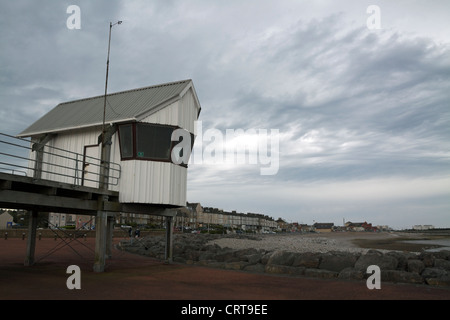 Morecambe Bay  and  Heysham Yacht Club Race Office - Stock Photo