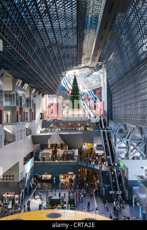 The concourse at Kyoto Railway Station at Christmas - Stock Photo