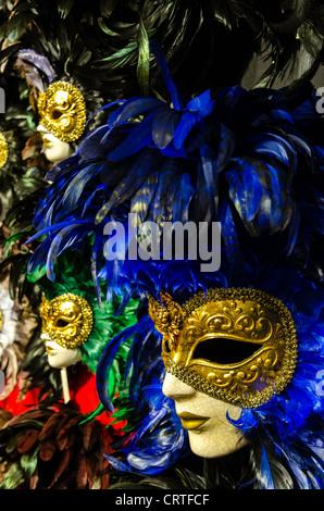 Carnival masks for sale Venice (Venezia) Veneto Italy Europe - Stock Photo