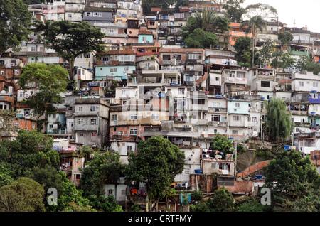 Favela Rio de Janeiro Brazil South America - Stock Photo