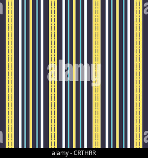Vertical stripes pattern in blue, yellow and white - Stock Photo