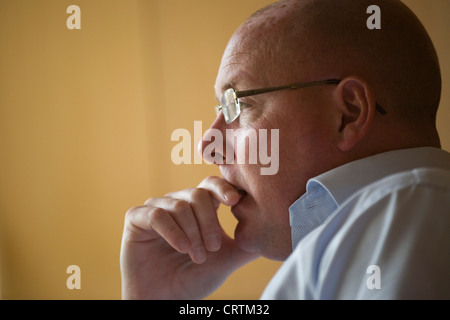 Nick Leeson, the former banker known as the Barings Rogue Trader seen in Galway, Ireland. - Stock Photo