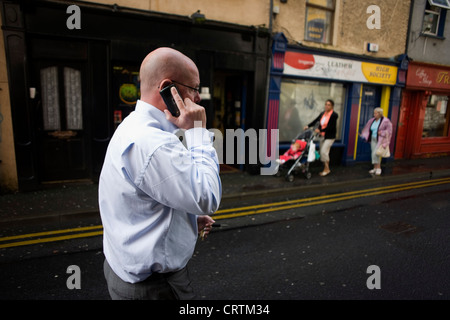 Nick Leeson, the former banker known as the Barings Rogue Trader seen in a street in Galway, Ireland. - Stock Photo