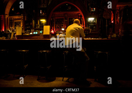 Nick Leeson, the former banker known as the Barings Rogue Trader seen in a bar in Galway, Ireland. - Stock Photo