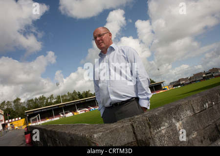 Nick Leeson, the former banker known as the Barings Rogue Trader seen at Terryland Park, the home of Galway United, - Stock Photo