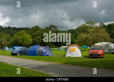 Croft camping site, in the village of Hawkshead, Lake District National Park, Cumbria, England UK - Stock Photo