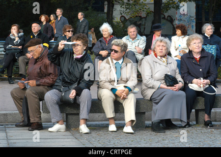 Pensioners, Berlin - Stock Photo