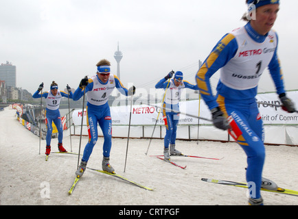 FIS Cross-Country World Cup sprint in Duesseldorf - Stock Photo