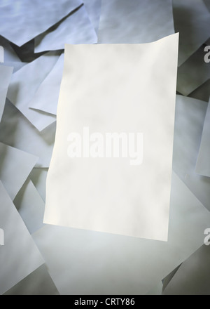 Empty sheets of paper - Stock Photo