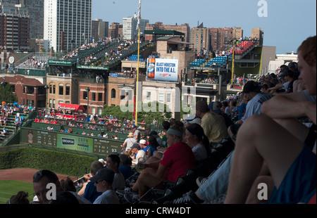 Wrigley Field, Chicago, Illinois, USA - Stock Photo