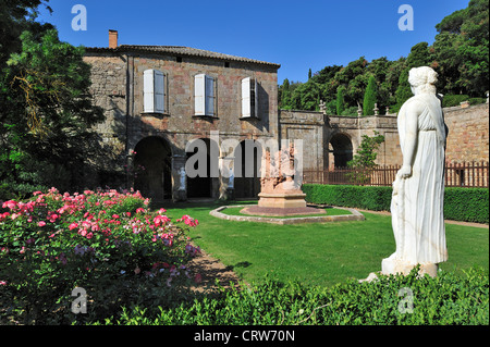 Fontfroide Abbey / Abbaye Sainte-Marie de Fontfroide, former Cistercian monastery in the Languedoc, Pyrenees, France - Stock Photo