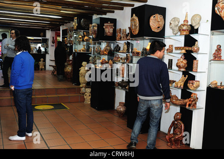 ' Hombres de Barro - La Casona del Museo ' in BOGOTA .Department of Cundimarca. COLOMBIA - Stock Photo