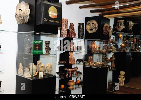 ' Hombres de Barro - La Casona del Museo ' in BOGOTA .Department of Cundimarca. COLOMBIA - Stock Photo