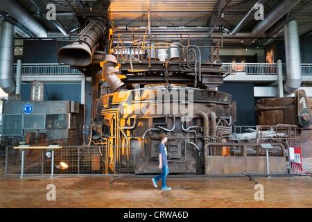 Blast furnace exhibit at Deutsche Arbeitsschutzausstellung DASA or German Museum of Occupational Health and Safety - Stock Photo