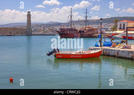 Venetian Port, Rethymno, Crete, Greece - Stock Photo