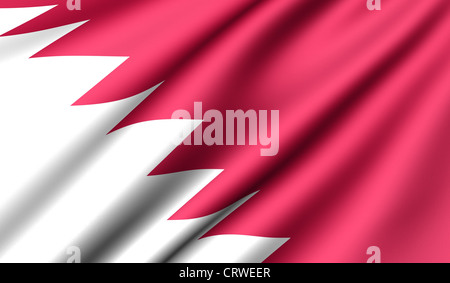 Flag of Qatar. Close up. Front view. - Stock Photo