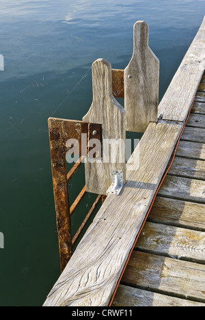 ladder at a landing stage - Stock Photo
