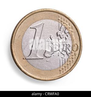 1 One Euro coin - Stock Photo