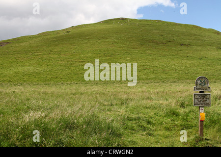 Wetton Hill in the Staffordshire Peak District - Stock Photo