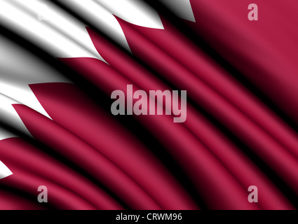 Flag of Qatar. Close up. - Stock Photo
