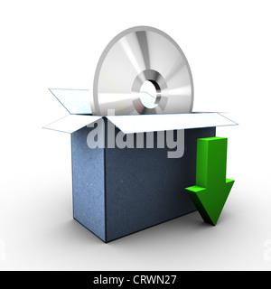 3D-downloadlink - Stock Photo