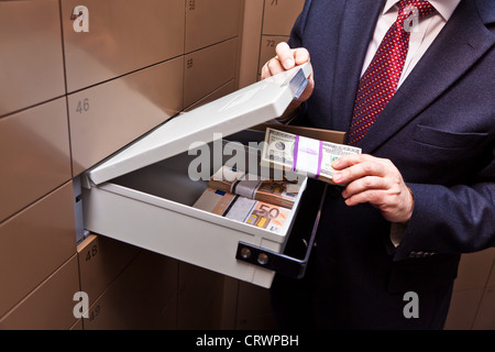 Locker in a bank vault - Stock Photo