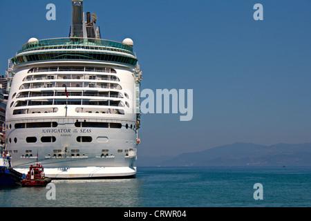 Navigator of The Seas moored in Kusadasi Turkey - Stock Photo