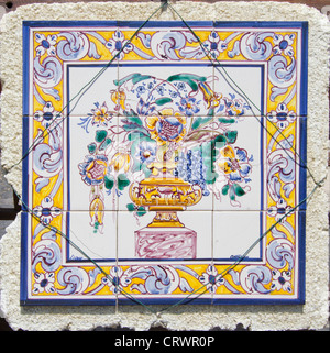 Traditional Portugal hand painted tiles - Stock Photo