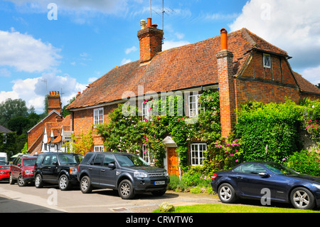 Pretty cottages in the village of Shere in Surrey, England, UK - Stock Photo