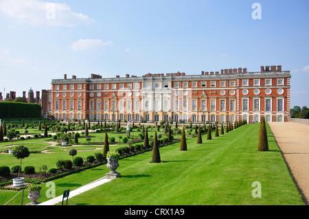 The Privy Garden, South Front, Hampton Court Palace, Hampton, Borough of Richmond upon Thames, Greater London, England, - Stock Photo