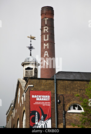 Old Truman Brewery Brick Lane East End London UK - Stock Photo