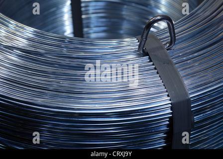 Galvanized wire role WIRE TUBE fair in Duesseldorf - Stock Photo