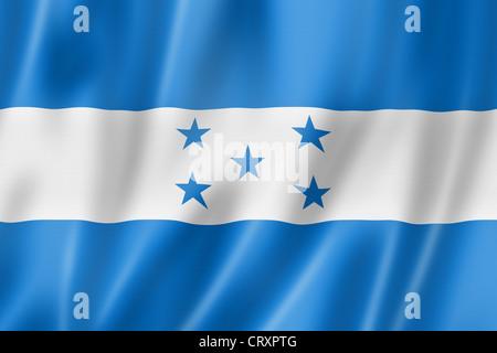 Honduras flag, three dimensional render, satin texture - Stock Photo