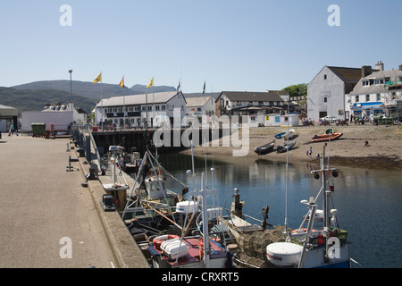 Ullapool Ross and Cromarty Scotland May The harbour of this small fishing port on Loch Broom - Stock Photo