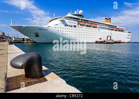 Cruse ship Costa Classica in the harbor of Trieste, Friuli-Venezia Giulia, Italy - Stock Photo