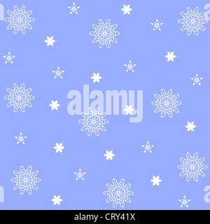 Artistic floral and stars pattern on blue - Stock Photo
