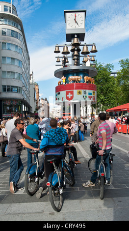 Swiss Glockenspiel Clock at Leicester Square, London