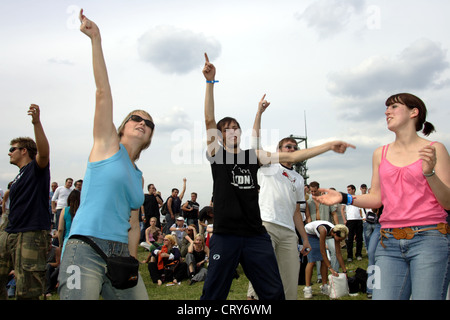 Oberhausen, Techno Festival WATCH IN LOVE - Stock Photo