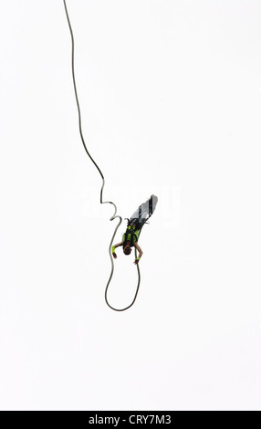Bungee Jumping on the WATCH IN LOVE in Oberhausen - Stock Photo
