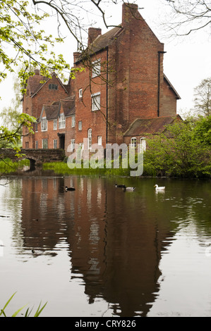 Harvington Hall, a moated medieval and Elizabethan manor-house in the English Midlands - Stock Photo