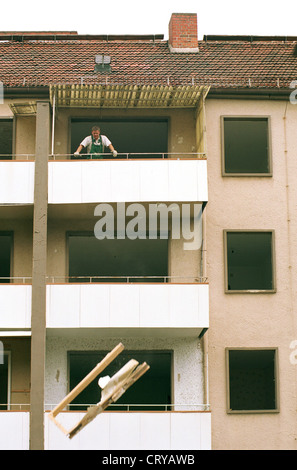 House demolition in Frankfurt / Oder - Stock Photo