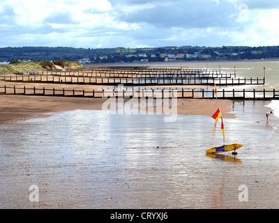 The beach at Dawlish Warren, Devon - Stock Photo