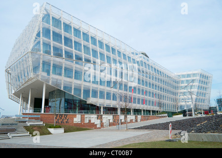 Headquarters office building of Unilever in Hafen city Hamburg Germany - Stock Photo