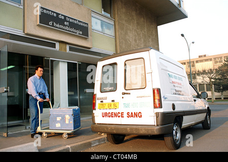 BLOOD TRANSFUSION CENTER - Stock Photo