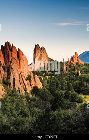 The Garden of the Gods in Colorado Springs, Colorado. - Stock Photo