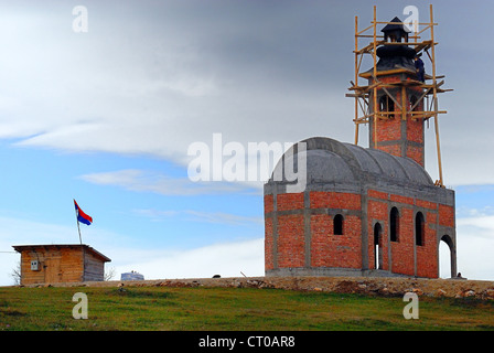 Bosnia and Herzegovina, Rogatica : a new orthodox church is under construction, it should be noted the Srpska Republic - Stock Photo