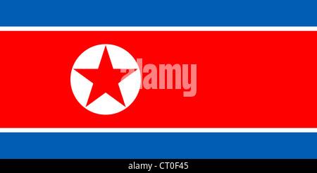 National flag of the Democratic People's Republic of Korea - North Korea. - Stock Photo